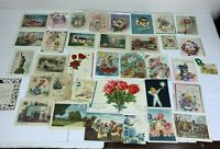 Vintage 1950's Lot of 36 Ephemera Greeting Cards Most Birthday Scrapbook Craft