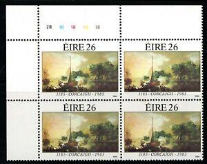 IRELAND 1985 Cork Anniversary 26 p Cylinder Block 2B 1B 1B 1B , MNH