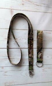 Handmade Lanyard Neck Strap ID Badge Holder Keychain Keyfob Woodland Camo Gifts