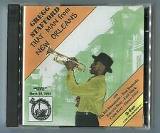 Gregg Stafford 2 cds THAT MAN FROM NEW ORLEANS 1998 Jazz Crusade LIVE IN CANADA