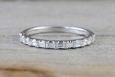 0.36Ct Baguette Diamond Eternity Wedding Engagement Ring in 18k White Gold