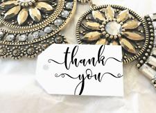 10 Kraft White Gift Tags Wedding Favour Thank you Bomboniere Christening Baptism