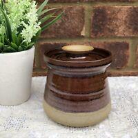 "Vtg Edinbane David Pritchard Lidded Storage Jar Studio Pottery Pot Signed 4"""