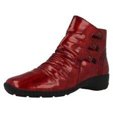 Bottes et bottines rouge vernis pour femme