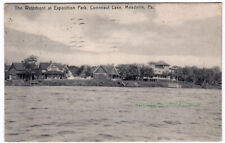 THE WATERFRONT AT EXPOSITION PARK Conneaut Lake PENNSYLVANIA - 1907 POSTCARD