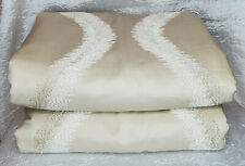 Hotel Collection Embroidered QUEEN Duvet Comforter Cover Soft Gold Cotton Silk