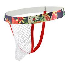 Men's Jockstrap Mesh Breathable Underwear Backless Thongs T-back AU B359
