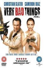 VERY BAD THINGS Slater*Diaz*Favreau*Piven*Stern Vegas Dark Comedy DVD *EXC*