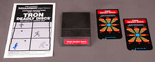 Vtg Intellivision Video Game-Tron Deadly Discs-Manual/2 Controler Overlays-1979