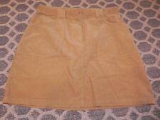 EUC  Talbots Kids Tan Corduroy Skirt Size 20 Fine Wale EUC