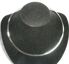 """18"""" 4mm Sterling Silver 925 Round no/clasp Necklace Choker Collar Cuff"""