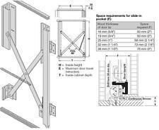 HAFELE #407.71.131 HAWA 'TURNAWAY RETRACTING  DOOR SLIDE 15/X1, LEFT-HAND