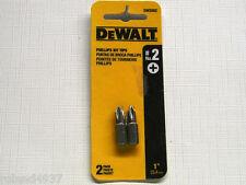 "2 Pack #2 Phillips 1"" Power Screwdriver Bit DeWALT DW2002"