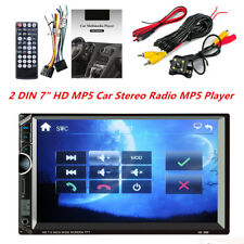 """1x Car Stereo Radio 2 DIN 7"""" HD MP5 Touch Screen Rear Camera Support Android IOS"""