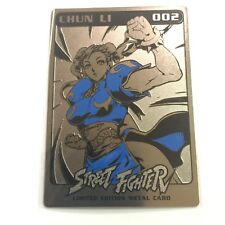 SDCC 2015 Udon Exclusive CHUN LI METAL STREET FIGHTER CARD SERIES 1 #002