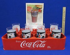 Coca Cola 2 Liter Carrying Case 8 Coke Tumbler Glasses Polar Bear Diet 1961 Ad