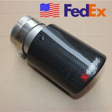 USA 100% Carbon Fiber Car Universal Exhaust Clamp-on Tip 63MM Muffler Trim Cover