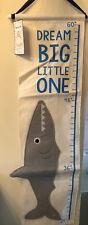 "Shark Dream Big Little One 60"" Cloth Hanging Growth Chart - Sea Animals - New!"