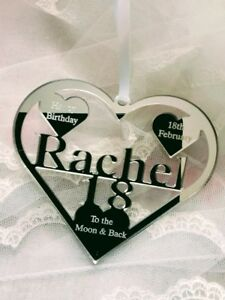 18TH BIRTHDAY GIFT TO THE MOON & BACK PERSONALIED WITH NAME RACHEL , ANYNAME