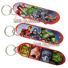 AVENGERS Epic SKATEBOARD KEYCHAINS (8) ~ Birthday Party Supplies Favors Toys Red