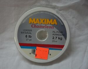 Maxima chameleon leader material 6 lbs (27 yards )  (store#bte16)