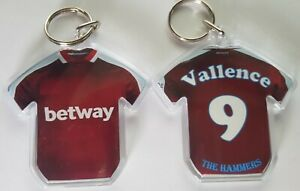 West  Ham United FC 21/22 styled personalised keyring with extras