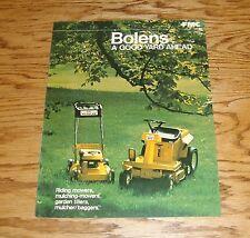 Original 1973 Bolens Sales Brochure 73 Mower Mulcher Tiller Bagger
