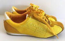 Coach Patti Women Sneaker Tennis Shoes Size 9 M Yellow/White A1327