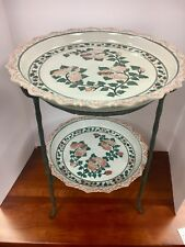 Signed Maitland Smith Porcelain Plates & Stand Plate Stand Decorative