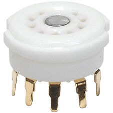 9-Pin Tube Socket Gold Plated Ceramic PC Mount 12AX7 Type