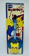 Pikachu Marill Tomy Nintendo Japanese Pokemon Lanyard Figure Plush Toy - 1999