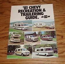 Original 1981 Chevrolet Recreation & Trailering Guide Brochure 81 Chevy Corvette