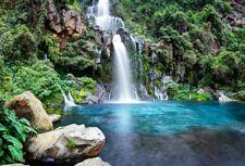 7x5ft Waterfall Background Studio Photo Props High Mountain Scene Backdrop Vinyl