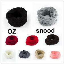 Women Girls Warm Winter Knit Neck Warmer Circle Wrap Cowl Loop Snood Scarf Shawl
