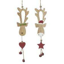Heaven Sends paio di Carini Renne Decorazioni Albero di Natale