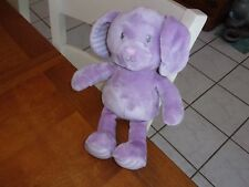 "little miracles purple lavendar dog puppy 13"" gray blanket baby plush lovey"