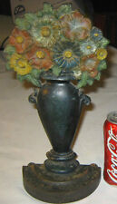 Antique Bradley Hubbard Usa Lg Cast Iron Flower Garden Urn Home Art Doorstop B&H