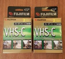 FUJIFILM VHS-C 4 Premium Quality Video Cassettes TC-30 Camcorder NEW