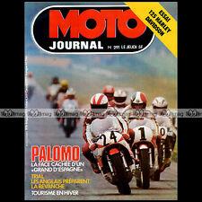 MOTO JOURNAL N°291 PACO BULTO BULTACO HARLEY-DAVIDSON 125 SS SILK 650 SCOTT '76