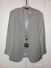 "Light Gray Baroni Suit,100% wool super 150's, two button, 41"" waist, style SB/2B"