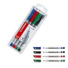 PK of 4 Stabilo Write-4-All Permanent Markers 156/4 Water-proof CD & DVD- FINE