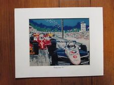 JONI CARTER  Signed 8x10 Color Indy 500 '85 Print(w/Pancho Carter)in 11x14 Matte