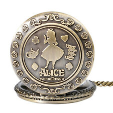 ALICE IN WONDERLAND POCKET WATCH Chain Necklace / Collectable Gift Idea