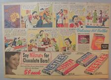 Nestle's Chocolate Bars Ad: Mother Gets Wise! 1930's-1940's 11 x 15 inches