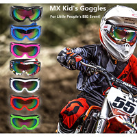 PeeWee ATV Quad Kids Goggles Motorcycle Motocross Racing Dirt Anti-UV Eyewear
