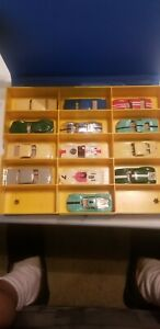 AURORA CIGARBOX 15 CAR CARRYING CASE with 13  Aurora Cars 1960s Ex. Cond.