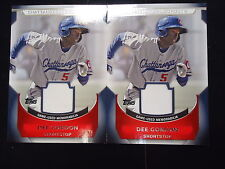 (2) Dee Gordon 2011 Topps Pro Debut Game Used Minor League Rc's