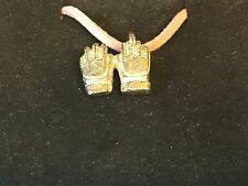 """Football Gloves TG181 English Pewter On a 18"""" Pink Cord Necklace"""
