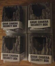 BULK LOT 4 MOULTRIE BIG GAME 18-GUAGE DEER CAMO STEEL CAMERA SECURITY LOCK BOX