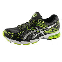 ASICS MENS GT 1000 2 WIDE WIDTH RUNNING SHOES  STORM/LIGHTING/LIMEADE 4E